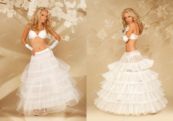 Купить подъюбник без колец для свадебного платья